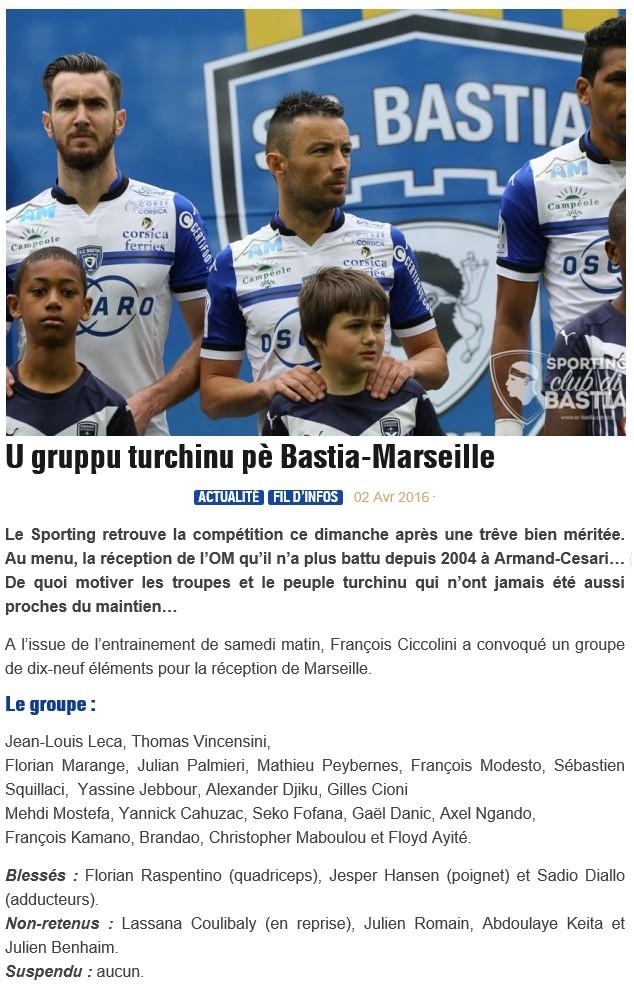 J32 / Jeu des pronos - Prono Bastia-Marseille S15
