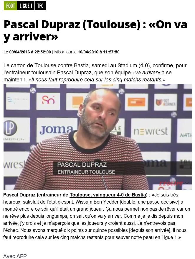 Après match : Toulouse - Bastia S21