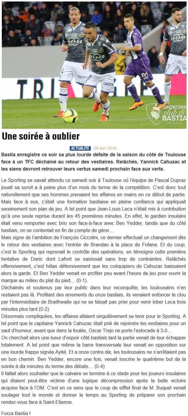 Après match : Toulouse - Bastia S24