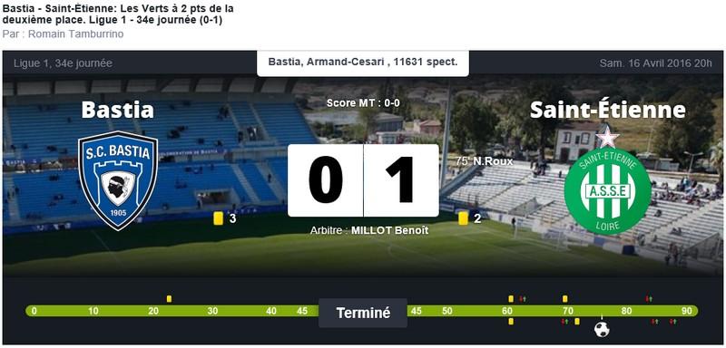 Après match : Bastia - St Etienne S30