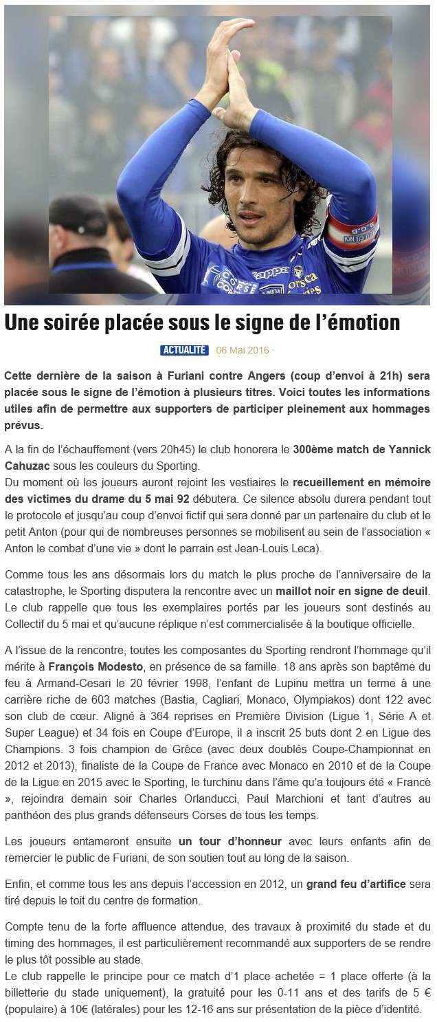 Avant match : Bastia - Angers S47