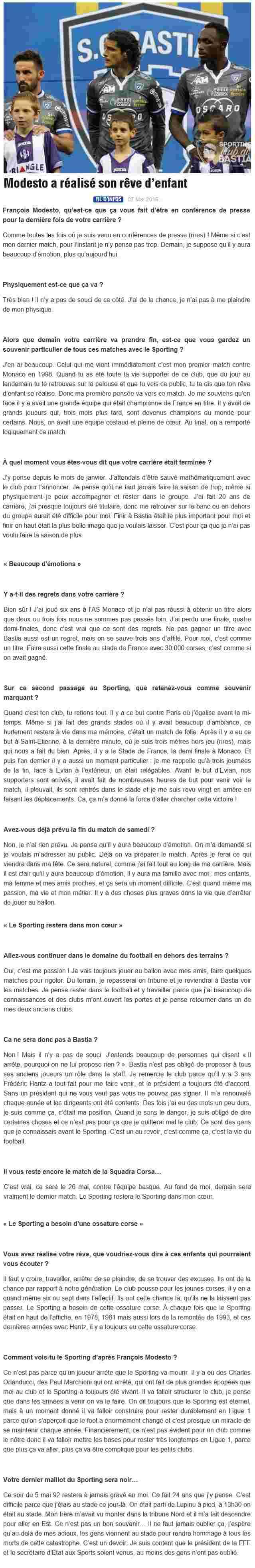Avant match : Bastia - Angers S48