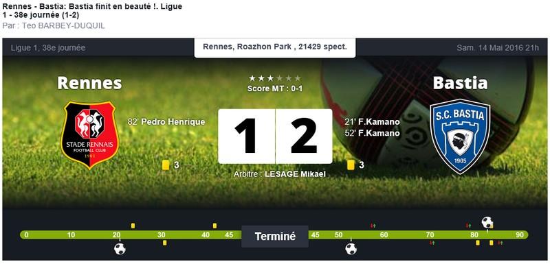 Après match : Rennes - Bastia S55