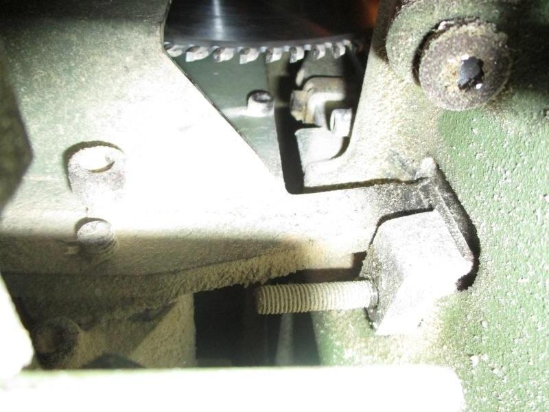 réglage de la scie sur table de la Robland X310 Sans_t11