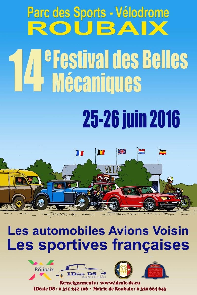 Belles Mécaniques de Roubaix (59) les 24 et 25 juin 2017 2016fb10