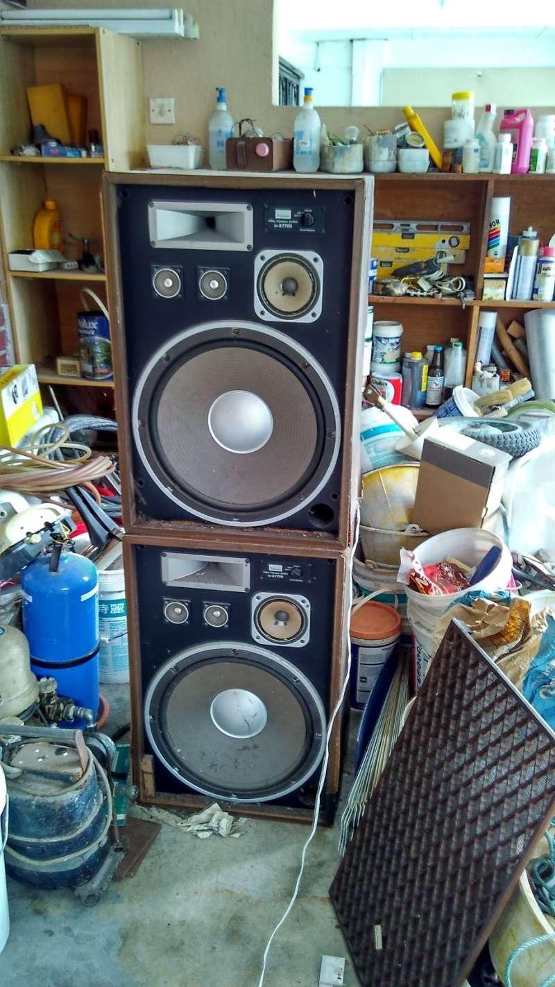 Rebuilding a pair of vintage Sansui speakers SP-X7700 Img_2040