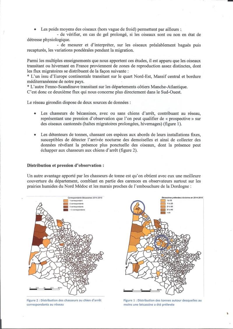Réseau bécassines bilan saison 14/15 Gironde Rap110