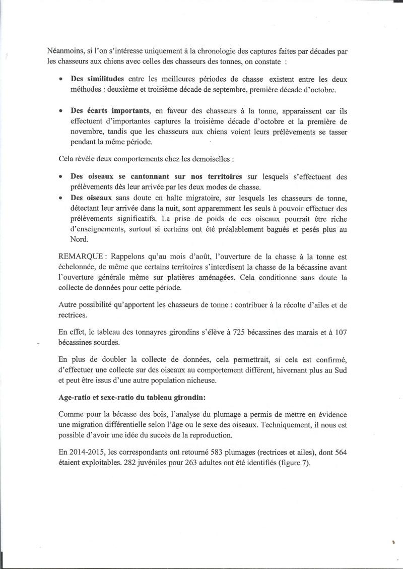 Réseau bécassines bilan saison 14/15 Gironde Rap510