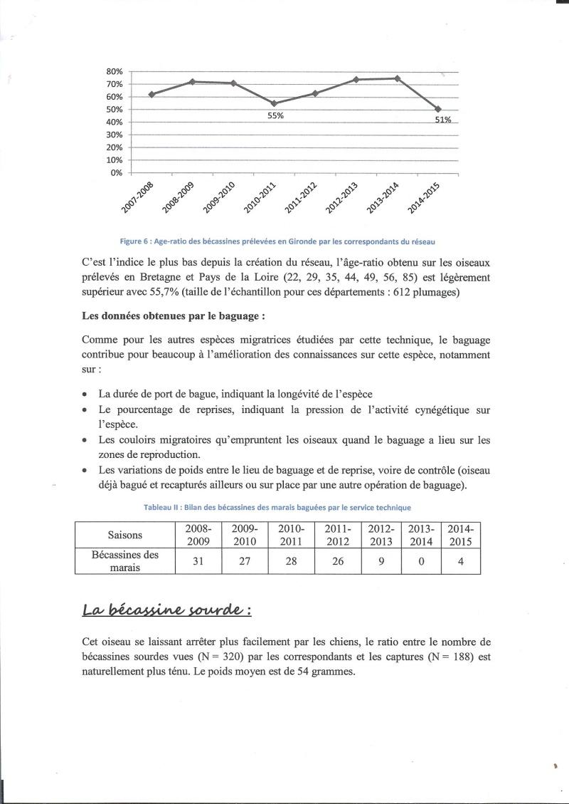 Réseau bécassines bilan saison 14/15 Gironde Rap610