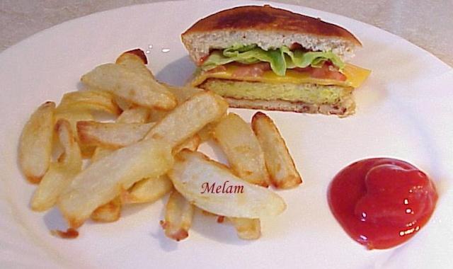 Burger aux galettes de courgettes Burger10