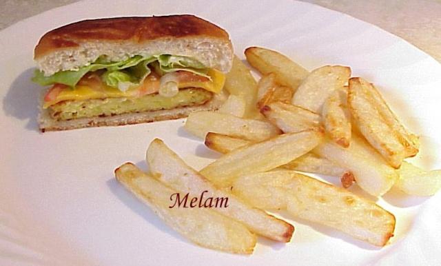 Burger aux galettes de courgettes Burger12