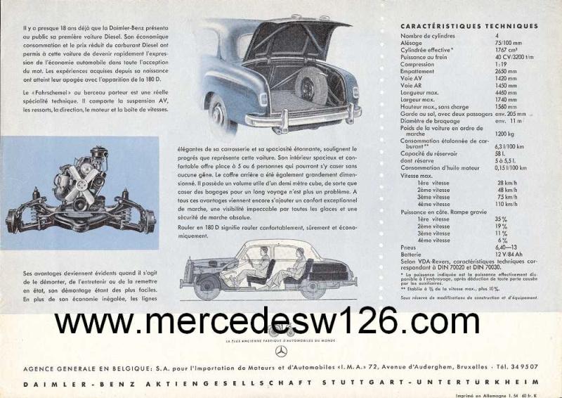 Prospectus de 1954 sur la Mercedes W120 180 D 180_d_20