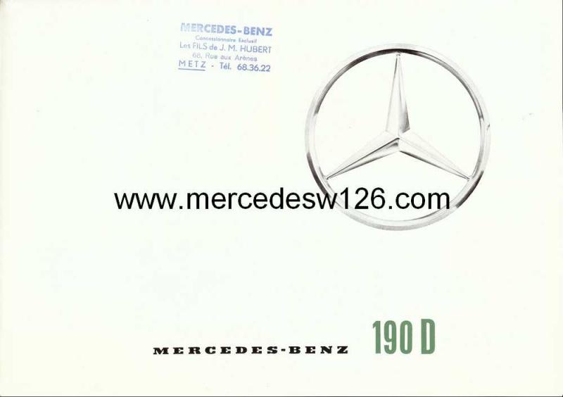 Catalogue de 1963 sur la Mercedes W110 190D 190d_110