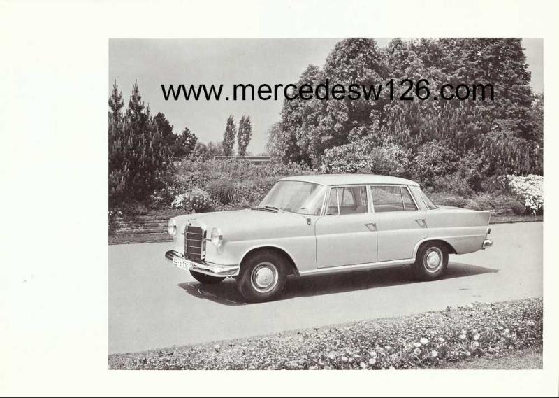 Catalogue de 1963 sur la Mercedes W110 190D 190d_111
