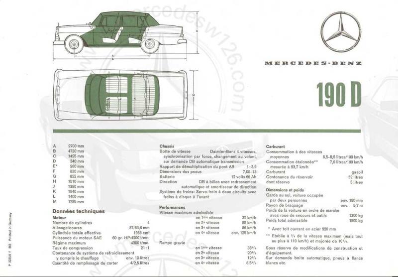 Catalogue de 1963 sur la Mercedes W110 190D 190d_114