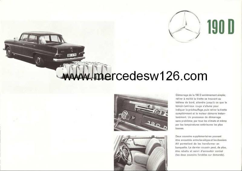 Catalogue de 1963 sur la Mercedes W110 190D 190d_115