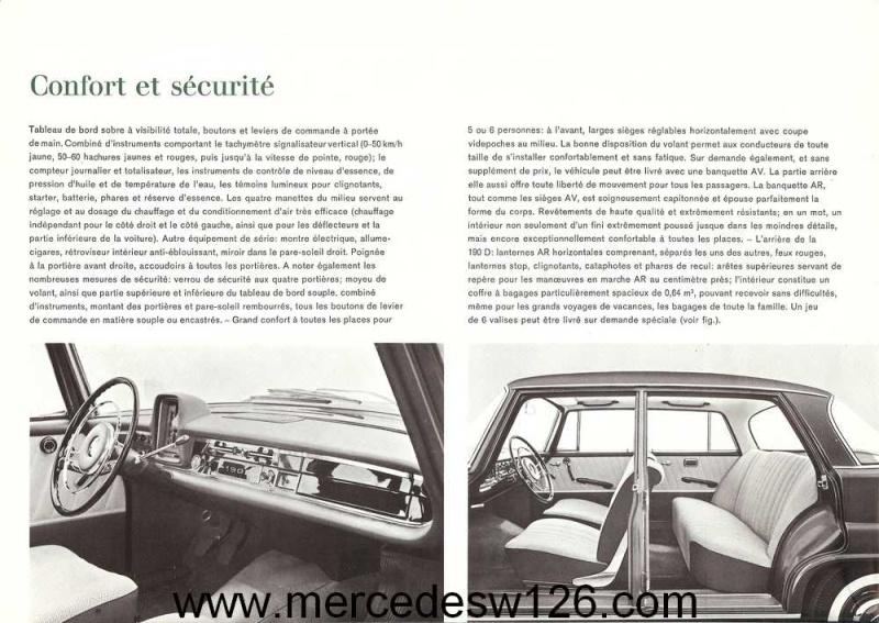 Catalogue de 1963 sur la Mercedes W110 190D 190d_116