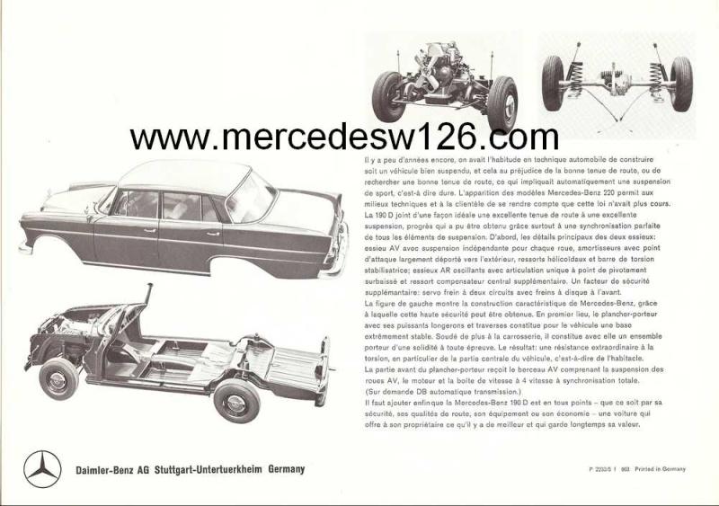 Catalogue de 1963 sur la Mercedes W110 190D 190d_117