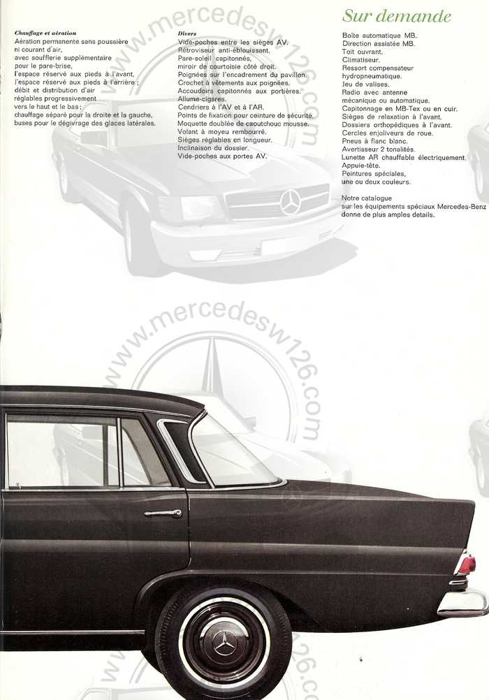 Catalogue de 1967 sur la Mercedes W110 200 D  200_d_13