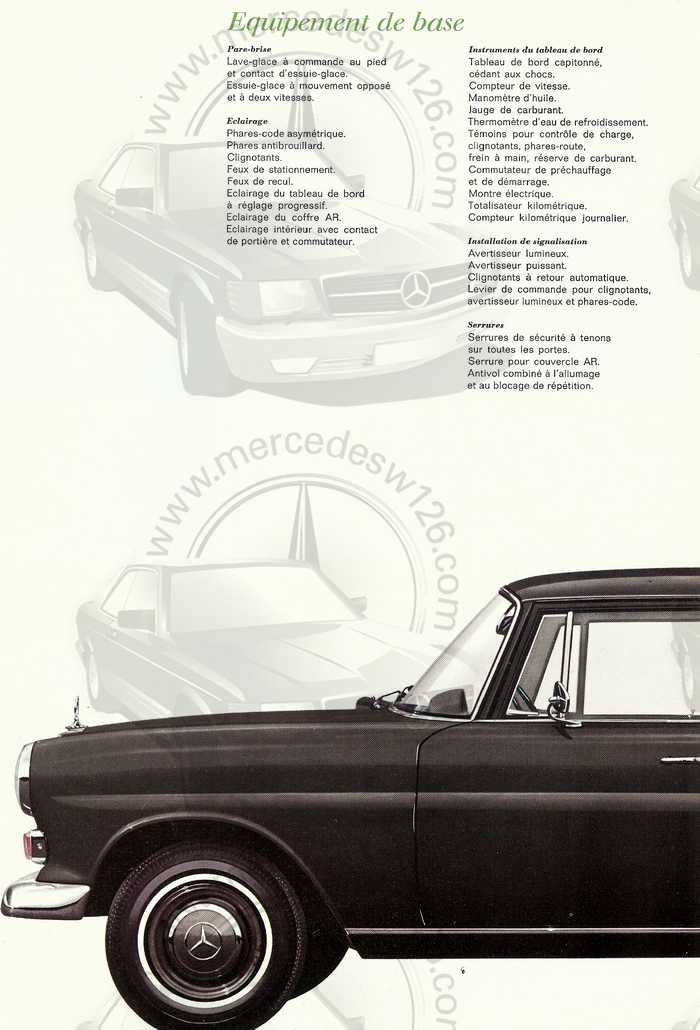 Catalogue de 1967 sur la Mercedes W110 200 D  200_d_15