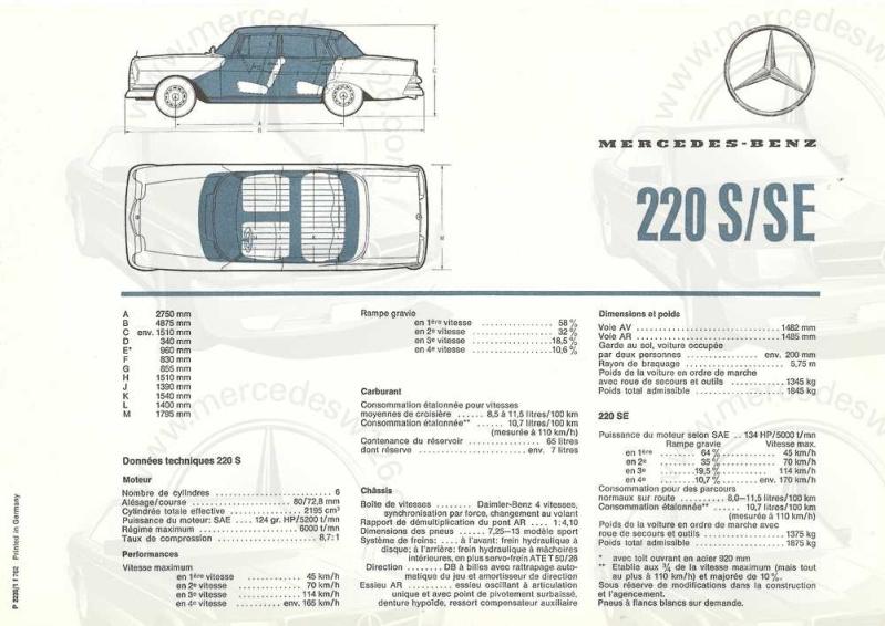 Brochure de 1962 sur les Mercedes W111 220 S & SE 220_1941