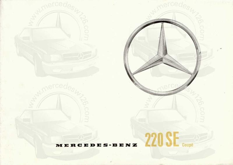 Catalogue de 1961 sur la Mercedes W111 220 SE coupé 220_se11