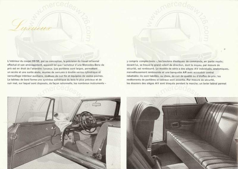 Catalogue de 1961 sur la Mercedes W111 220 SE coupé 220_se12