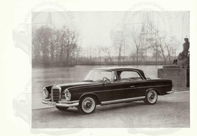 Catalogue de 1961 sur la Mercedes W111 220 SE coupé 220_se13