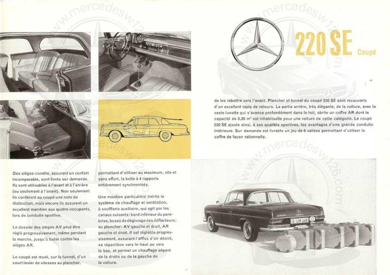 Catalogue de 1961 sur la Mercedes W111 220 SE coupé 220_se14