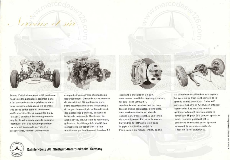 Catalogue de 1961 sur la Mercedes W111 220 SE coupé 220_se15