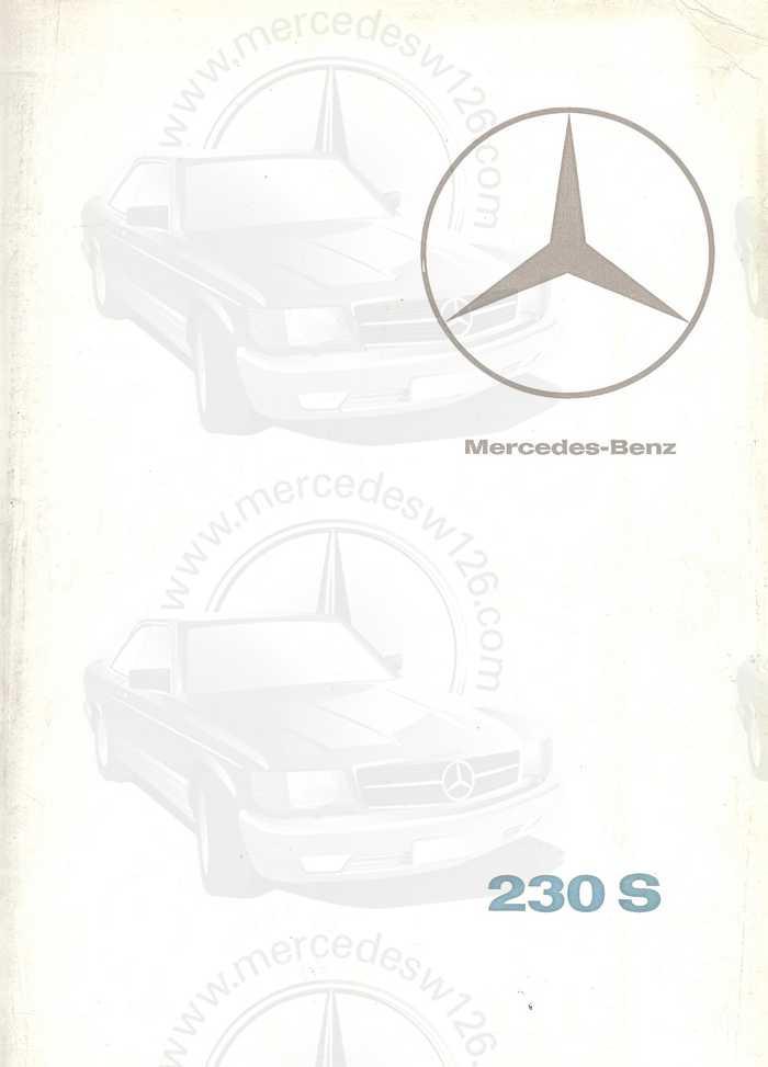 Catalogue de 1967 sur la Mercedes W111 230 S 230_s110