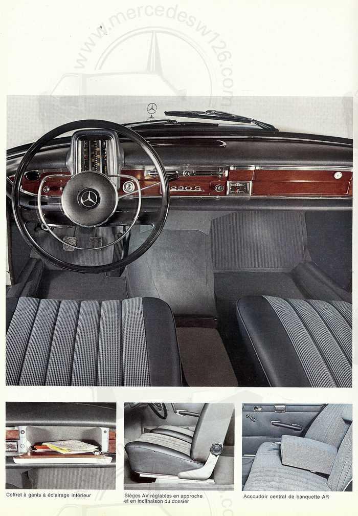 Catalogue de 1967 sur la Mercedes W111 230 S 230_s112