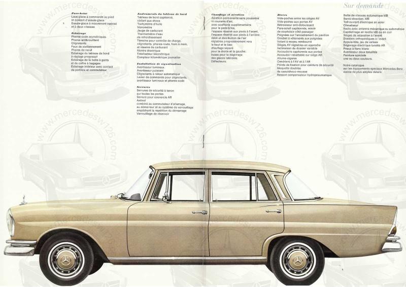 Catalogue de 1967 sur la Mercedes W111 230 S 230_s114