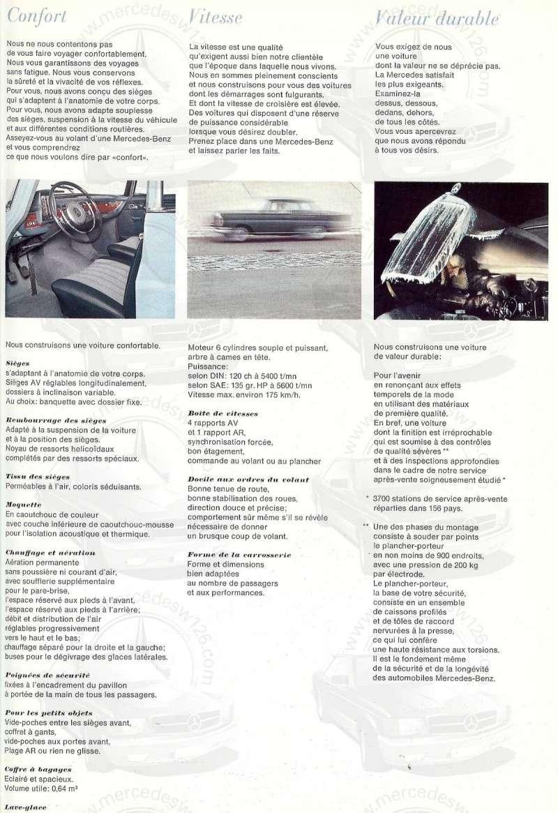 Catalogue de 1967 sur la Mercedes W111 230 S 230_s115