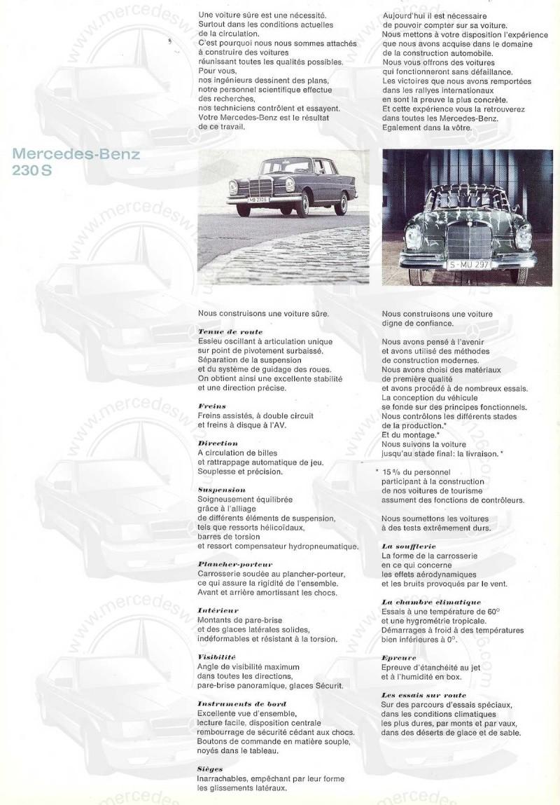 Catalogue de 1967 sur la Mercedes W111 230 S 230_s117