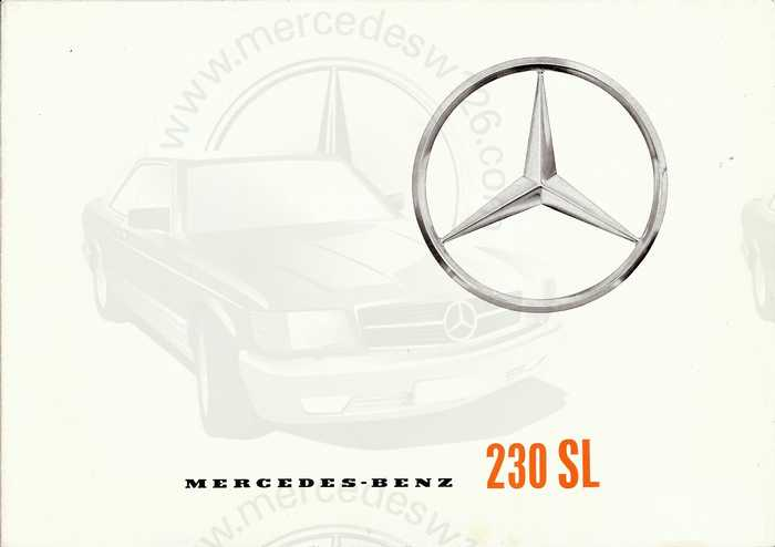 "Catalogue de 1963 sur la Mercedes W113 230 SL ""pagode"" 230_sl10"