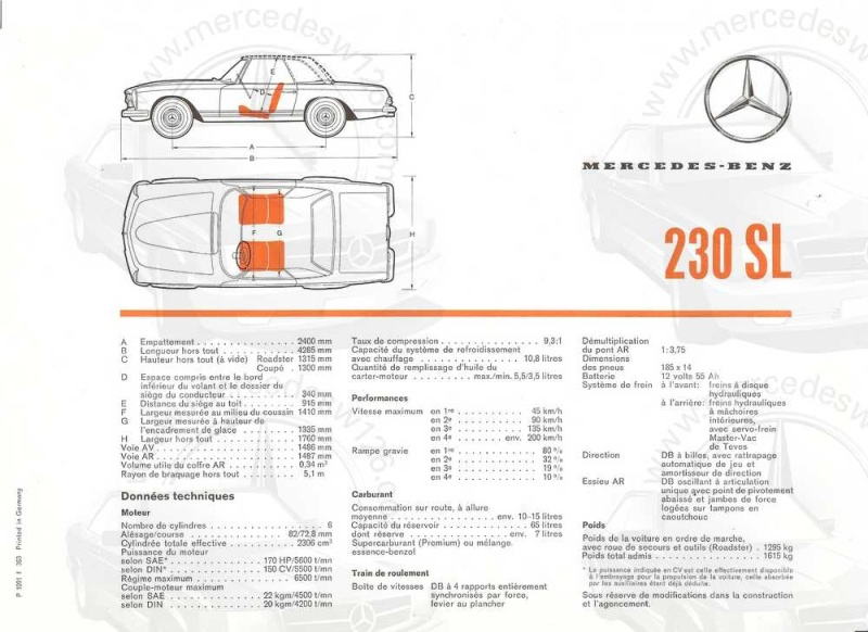 "Catalogue de 1963 sur la Mercedes W113 230 SL ""pagode"" 230_sl13"