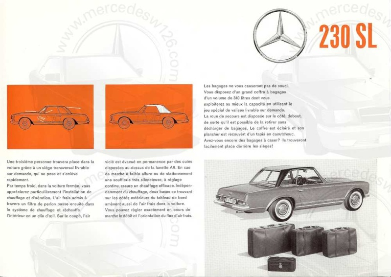 "Catalogue de 1963 sur la Mercedes W113 230 SL ""pagode"" 230_sl14"