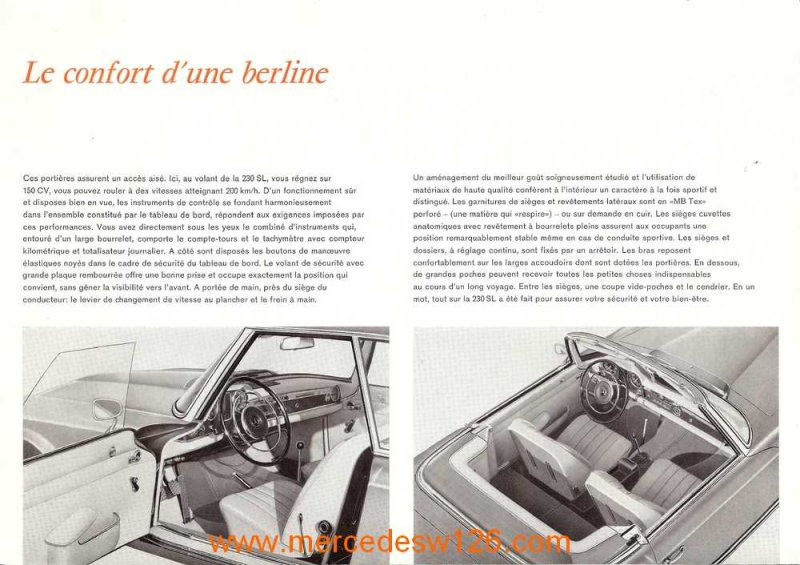 "Catalogue de 1963 sur la Mercedes W113 230 SL ""pagode"" 230_sl15"