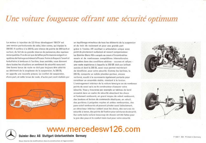 "Catalogue de 1963 sur la Mercedes W113 230 SL ""pagode"" 230_sl17"