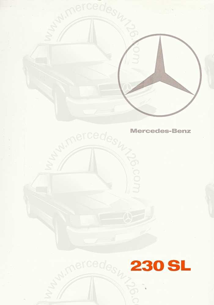 """Catalogue de 1966 sur la Mercedes W113 """"pagode"""" 230 SL 230_sl19"""