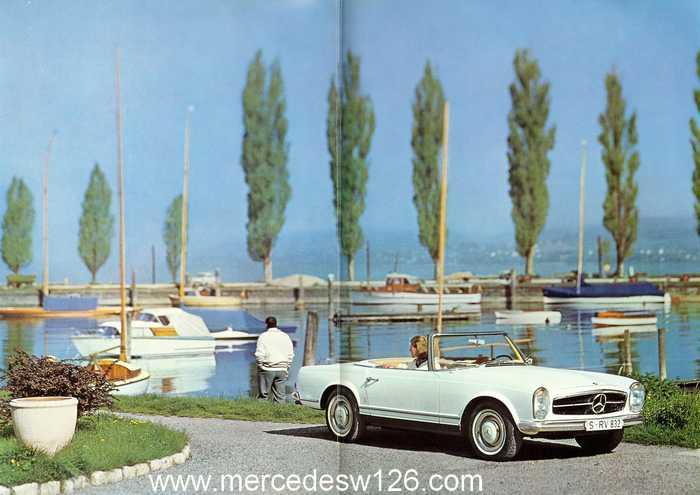 """Catalogue de 1966 sur la Mercedes W113 """"pagode"""" 230 SL 230_sl21"""
