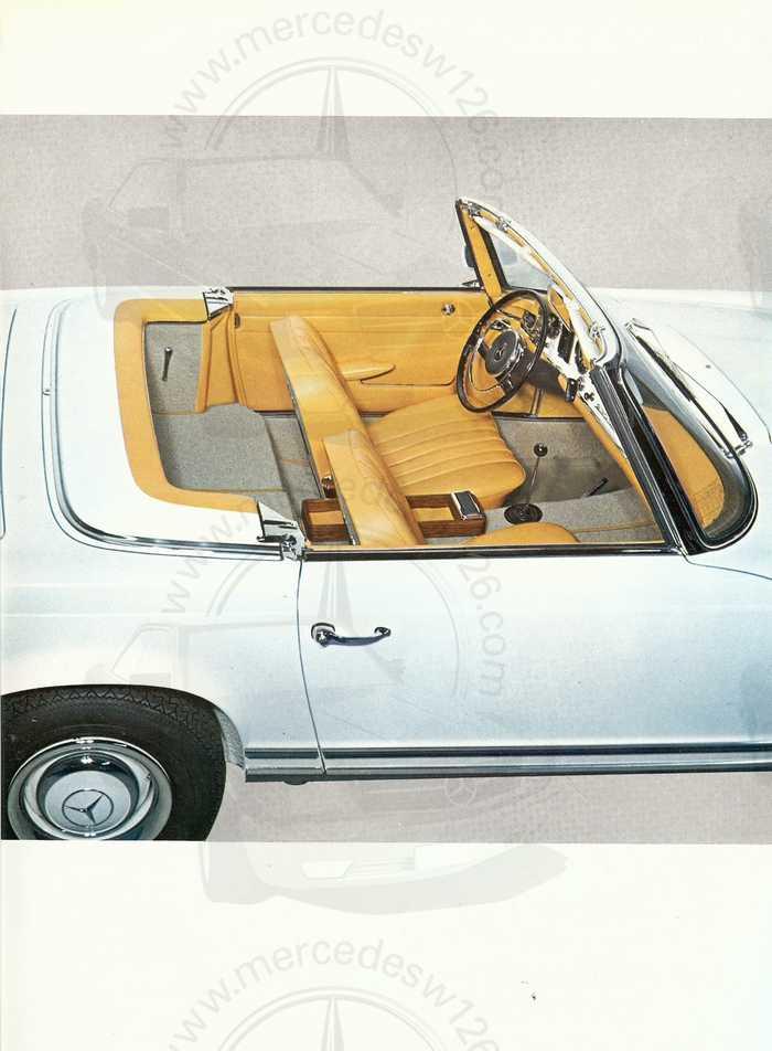 """Catalogue de 1966 sur la Mercedes W113 """"pagode"""" 230 SL 230_sl22"""