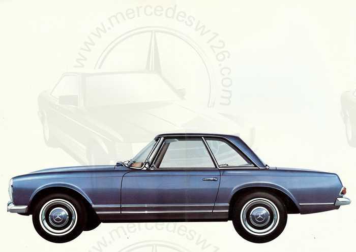 """Catalogue de 1966 sur la Mercedes W113 """"pagode"""" 230 SL 230_sl23"""