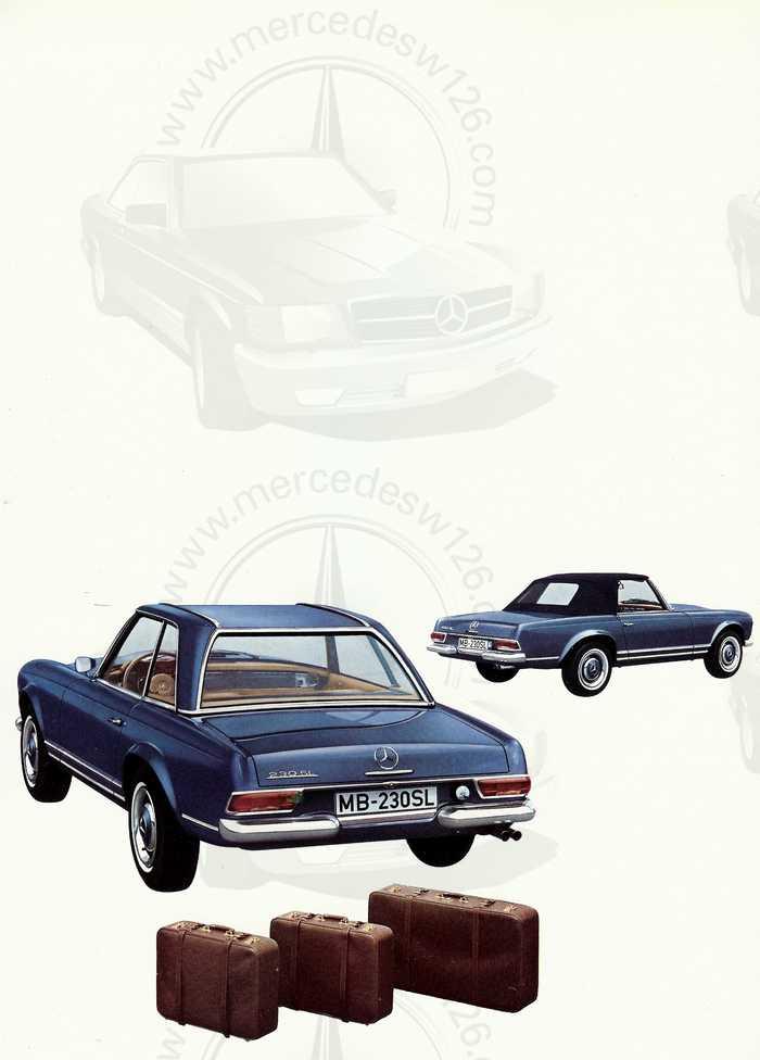 """Catalogue de 1966 sur la Mercedes W113 """"pagode"""" 230 SL 230_sl26"""