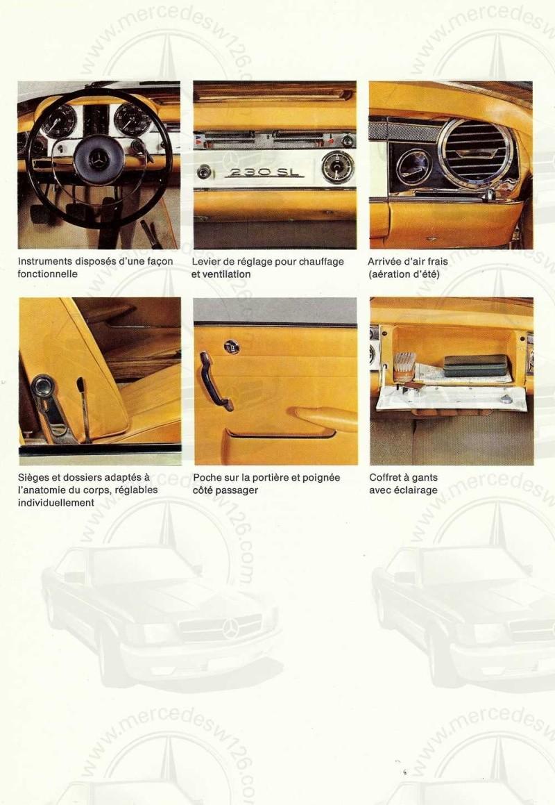 """Catalogue de 1966 sur la Mercedes W113 """"pagode"""" 230 SL 230_sl27"""