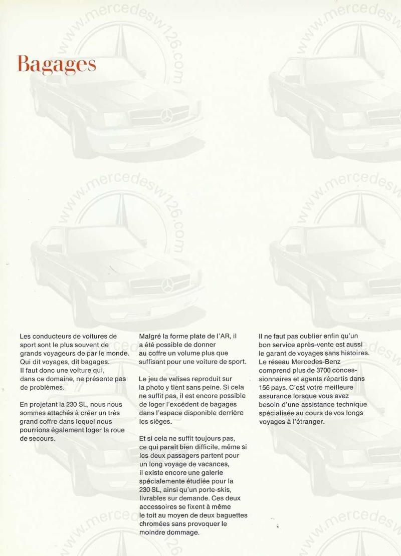 """Catalogue de 1966 sur la Mercedes W113 """"pagode"""" 230 SL 230_sl29"""