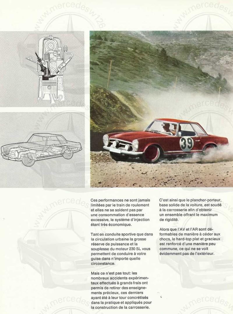 """Catalogue de 1966 sur la Mercedes W113 """"pagode"""" 230 SL 230_sl37"""