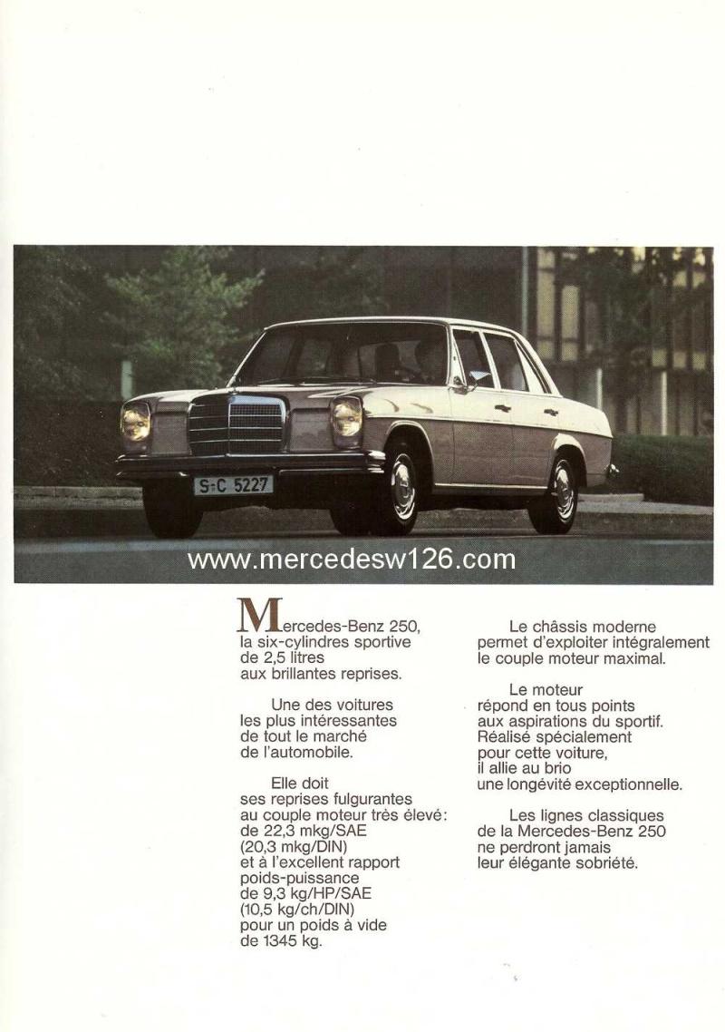 Catalogue de 1968 sur la Mercedes W114 250 (décembre 1968) 250_1913