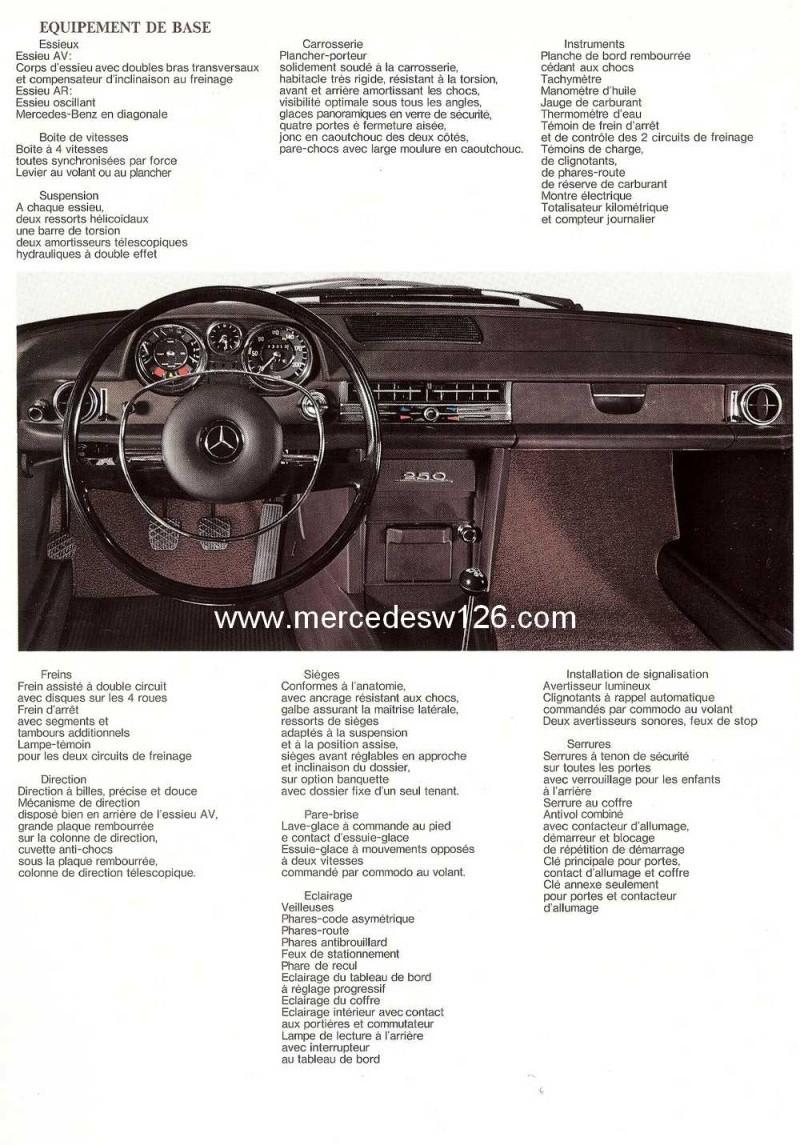 Catalogue de 1968 sur la Mercedes W114 250 (décembre 1968) 250_1918